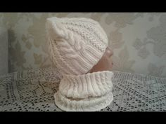 Шапка спицами. КотоШапка. Часть 1.   // Knitting for kids // How to knit a hat - YouTube