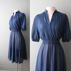 lovely vintage dress from Capricious Traveler.