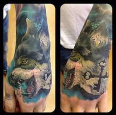 Wolf on the Hand by Phil Wilkinson at One Day Gallery in Manchester, England
