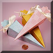 Cone Shaped Favor Boxes