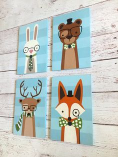 Check out this superb photo - what a very creative design Nursery Wood Sign, Nursery Canvas, Nursery Artwork, Woodland Creatures Nursery, Woodland Nursery, Woodland Animals, Forest Friends Nursery, Baby Animal Drawings, Fox Decor
