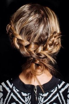 loosely tied braid