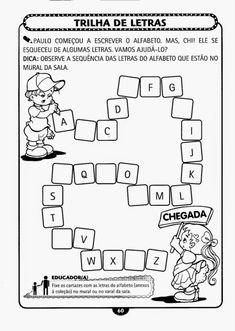 Educação Infantil Atividade-55 Education English, Preschool Worksheets, Back To School, Alphabet, Diagram, Reading, Hinata, 1, Preschool Literacy Activities