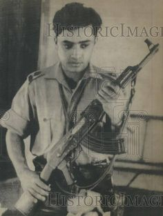 A 1971 photo of a young (Bengali) Pakistan army officer who switched sides and joined the East Pakistan rebels against the Pakistan Army.