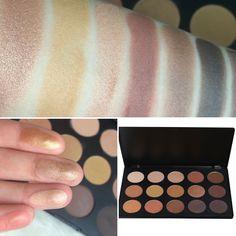 GOLD PALETTE high pigmentation eyeshadows Made In italy  Shop online www.eliflamin.com Ombretti dorati di alta pigmentazione