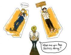 The Mentalist vs Sherlock. Fan art