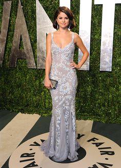 Selena Gomez en la fiesta de Vanity Fair 2012, California.
