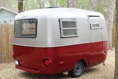 Cherry red and silver boler.