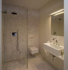 bathroom design by idstudio hammered carrara marble
