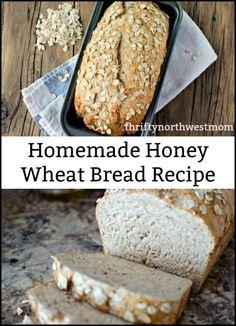 Homemade Honey Wheat Bread Recipe! - Thrifty NW Mom