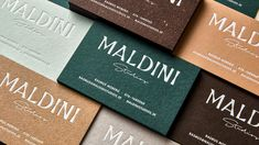 Maldini Studios Branding - Mindsparkle Mag - Papier: GF Smith and Arjowiggins Letterpress Business Cards, Graphic Design Layouts, Design Posters, Brochure Design, Photoshop, Postcard Design, Design Graphique, Packaging Design Inspiration, Brand Inspiration