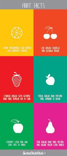 Halo! Selamat siang! Menemani makan siang SOlovers semua, berikut disimak fakta buah yang mungkin belum kalian ketahui :)  Dan kalian bisa juga belanja aneka oleh-oleh berbahan dasar buah-buahan pilihan di http://serbaoleholeh.com/ :)  #infografis #infographic #oleholeh