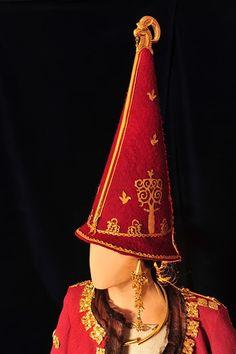 Scythian Princess headgear Kazakhstan golden woman, traditional Zoroastrian burial