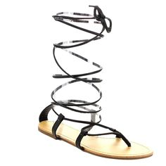 Beston EA88 Women Under Knee High Gladiator Lace Up Thong Sandals ** Tried it! Love it! Click the image. : Strappy sandals