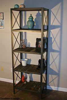Industrial/rustic bookcase shelving unit por leecowen en Etsy