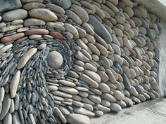 Stone art wall