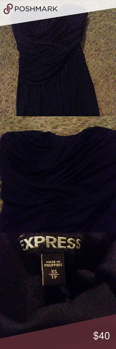 Little Black Dress Express strapless sweetheart neckline cocktail dress. Express Dresses Strapless