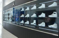 New Air Jordan Display At The Renovated Laney High School Gymnasium