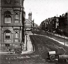 Rue de Rivoli vers 1860