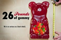 26-pound Party Gummy Bear: Gigantic gummy candy, created by Vat19.com
