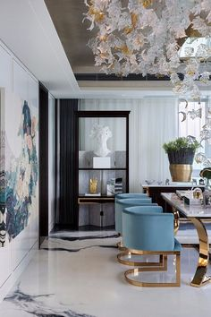 8 Spectacular Dining Room Ideas Featuring - Modern Chair - Ideas of Modern Chair #ModernChair - 8 Spectacular Dining Room Ideas Featuring Modern Chairs | Modern Interior Design | Chair Design | #diningroomchairs #moderndiningroom #diningroominspirations More at: