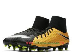 the latest 4183d 61ed2 Nike Hypervenom Phatal 3 DF FG Chaussure de football crampons pour Homme  Vert   noir 917764 801