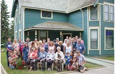 Some 40 descendants of John Walter, one of Edmonton's first business moguls, had their photo taken Sunday in front of the house he built in 1901, during a family reunion.