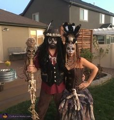 Lindsy: My husband and I decided to dress as a Voodoo Witche& after watchin. Lindsy: My husband and I decided to dress as a Voodoo Witche& after watching American . Scary Couples Halloween Costumes, Witch Costumes, Halloween Costume Contest, Boy Costumes, Costume Ideas, Voodoo Priestess Costume, Voodoo Costume, Voodoo Party, Voodoo Halloween
