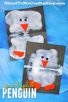 Animal Crafts Paint Splat Penguin Friends - Kid Craft Idea Transform You Home With Daycare Crafts, Classroom Crafts, Tutorial Paint, Watercolor Card, Winter Crafts For Toddlers, Winter Preschool Crafts, Winter Activities, Polar Animals Preschool Crafts, Crafts Toddlers