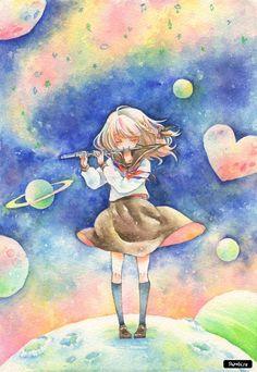 Акварельные работы Iinuma Chika - Аниме картинки и Арт - Сайт любителей аниме - Аниме сайт