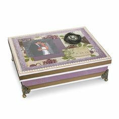 Memory Keepsake Box - I think this would make a grand Christmas gift for my Granddaughters