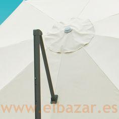Sombrilla/parasol crudo 3.5m diám - pié lateral - comprar | ELBAZAR.ES