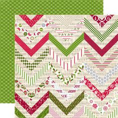 Echo Park - Home for the Holidays Collection - Christmas Chevron at Scrapbook.com