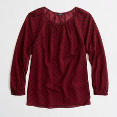 Factory printed keyhole top - blouses - FactoryWomen's Shirts & Tops - J.Crew Factory