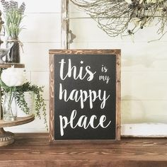 Just listed this sign in my #etsy shop {link in bio}! You might just spy this one, on a new #hgtv show 🤗. • #naileditfridays #txsizedhome #etsyseller #paintedwoodsigns #framedwoodsigns #woodsigns #farmhousesigns #thisismyhappyplace #farmhousestyle #inspirationalsigns #homedecor #homestaging #styledwithsigns