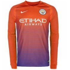 Fodboldtrøjer Premier League Manchester City 2016-17 3. Trøje Langærmede