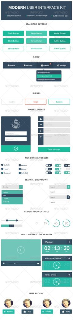 Modern User Interface Kit - User Interfaces Web Elements