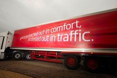 Ambient advertising Virgin Media, Advertising, Ads, Trucks, Vehicles, Truck, Car, Vehicle, Tools