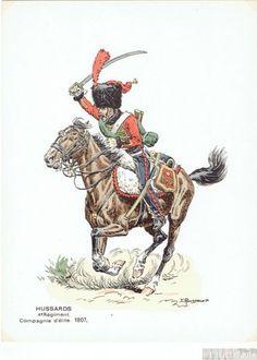 compagnie d'élite 4e régiment de hussards 1807