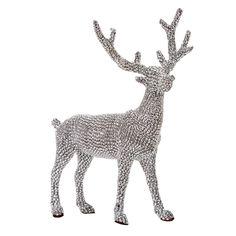 14-in Silver Gem Deer - At Home