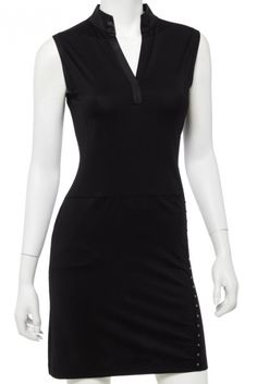 If you're in the market for some new outfits, consider our women's apparel! Shop this comfortable and stylish PARALLELS (Black) EP New York Ladies Sleeveless Y-Neck Golf Dress from Lori's Golf Shoppe.