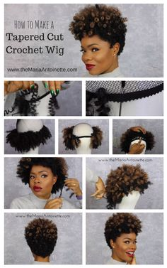 This is perfect for sisters who are looking for a protective style but still want to maintain the natural look. How to Make a Tapered Cut Crochet Wig using Curlkalon Hair Crochet Braids, Crochet Hair Styles, Diy Crochet Wig, Crochet Weave Hairstyles, My Hairstyle, Wig Hairstyles, Natural Hair Tips, Natural Hair Styles, Coiffure Hair