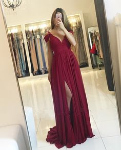chiffon prom dress,elegant bridesmaid dresses,burgundy bridesmaid dresses,sexy prom