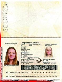 Ghana Passport G0156260 | Romance