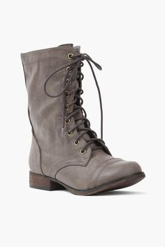 Taupe combat boots. I got these and love em!