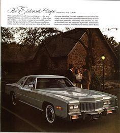 Cadillac Eldorado Coupe advertisement Retro Cars, Vintage Cars, Vintage Auto, Cadillac Eldorado, Cadillac Ct6, Counting Cars, Gm Car, American Classic Cars, Buick Riviera