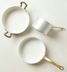More from Anthropologie Home! I've been dreaming of white pots for the kitchen! Love the brassy gold handles 💗 #r2bpainted #upcycled #upcycle #newlook #newtoyou #handpainted #handpaintedfurniture #painter #paintedfurniture #vintagestyle #vintage #antique #repurpose #repurposed #faux #fauxwood #stencil #distressed #crackle #glazing #antiqued #beforeandafter #beforeafter #betterafter #paintedfurniturelove #diy #diyproject #diydecor #doityourself #antiques