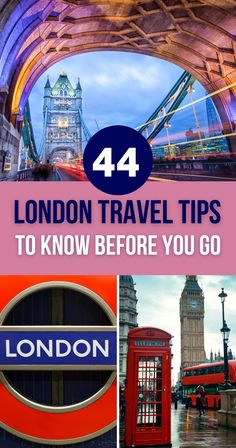 This article with 44 London travel tips will help you enjoy the British capital to the fullest. | London Travel Guide | Travel to London | Traveling to London | London Travel Tips and Tricks | London Hacks | What to Do in London European Travel Tips, Europe Travel Guide, Travel Guides, Travel Destinations, London Travel, Travel Uk, Budget Travel, Interesting Facts About London, Travel Advice