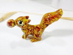 Vintage Ceramic Squirrel Figurine Miniature by ChattCatVintage