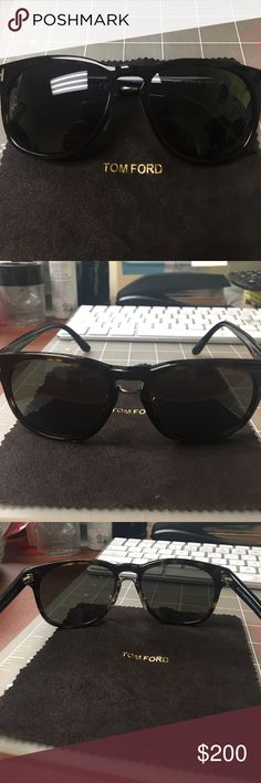 Tom Ford Franklin Wayfarer Sunglasses Tom Ford Franklin Wayfarer Sunglasses in Havana Green. Stylish everyday glasses that really makes ur eyes feel cool under the bright sun. Comes with a beautiful case and the original cleaning cloth Tom Ford Accessories Sunglasses